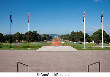 Anzac Parade, Canberra, Australia. - Anzac Parade view from...
