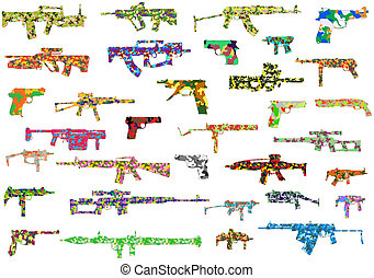 The weapon in a camouflage - The vector image of a...