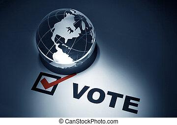 globo, votación