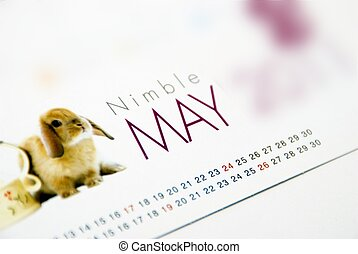 May - This is a image of table calendar.
