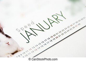 January - This is a image of table calendar.