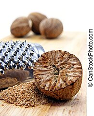 Selection of nutmeg with grater #1