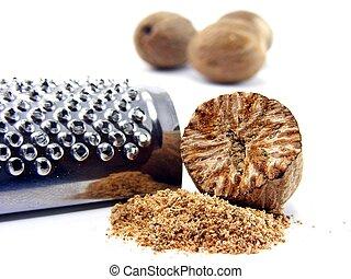 Nutmeg & grater