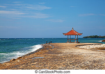 beautiful beach -  beautiful balinese Nusa Dua beach