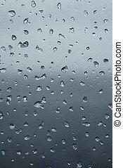 Frozen window - Frozen drops in cabin window
