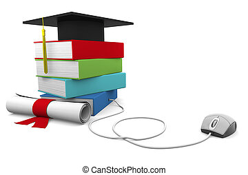 Online Education - On line Univesity concept. Distance...
