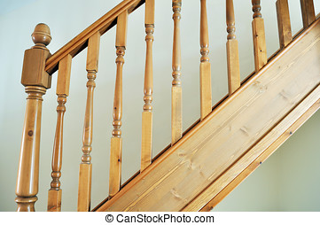 Bannister Rail - Photo of a modern stair banister rail