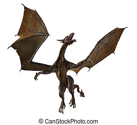 Flying Dragon - 2 - dragon, creature, beast, mythical,...