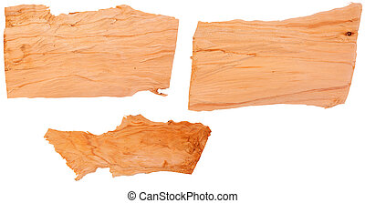 Wood chips isolated on background