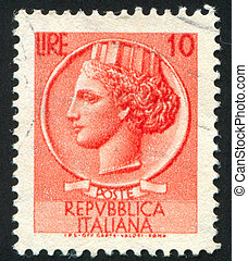 stamp - ITALY - CIRCA 1953: stamp printed by Italy, shows...