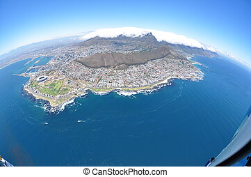 Aerial View of Cape Town - Aerial view of Cape Town, Fish...