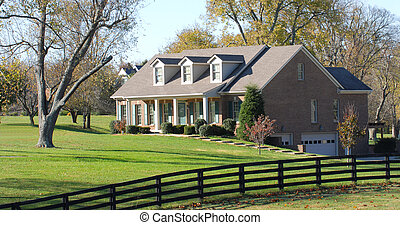 Elegant rural home resting on a large lot - Beautiful...