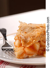 Slice of freshly made apple pie