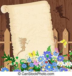 Greeting rustic paper
