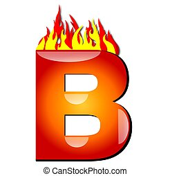 Letter B on Fire