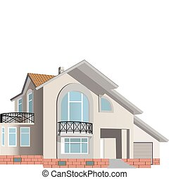 Cottage (Detailed). Vector illustration for you design