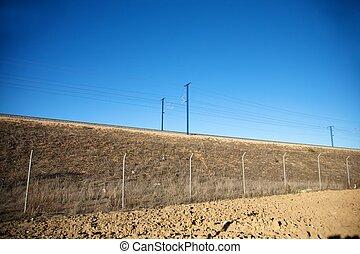 spanish high speed train rail - the fastest train AVE...