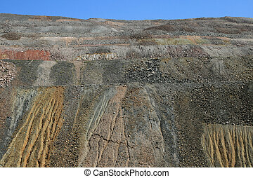 mine waste piles - eroded waste piles from the Ray copper...