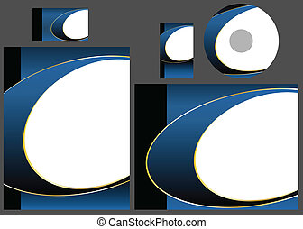 Vector - Template for business card, letter and cd. Add your logo and text