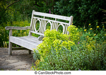 Secret garden Garden bench - Secret garden English garden...