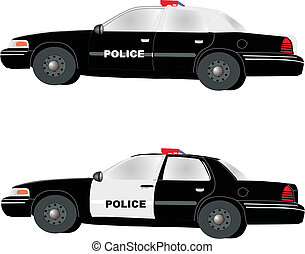 Police Cruisers - Two different types of Police Cruisers, to...