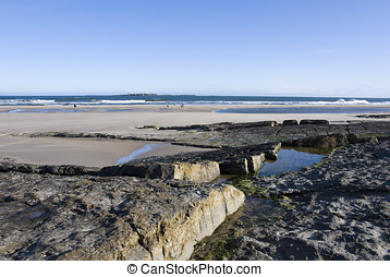 Northumberland coastline, the most northerly county England
