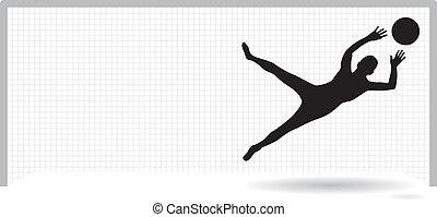goalie - a goalie saving the ball