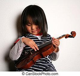 violon, enfant