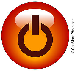red power button or web icon