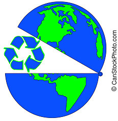 globe open to recycling