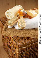 SPA accessories on basket