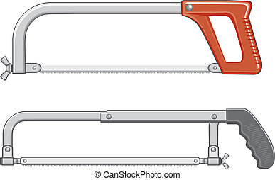 Hacksaw - Illustration of two hacksaws. One is an older...