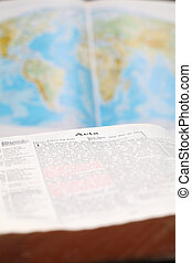 World Missions - Bible open to the Book of Acts (the book...