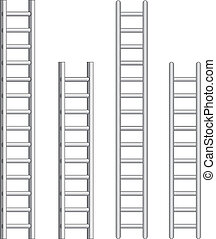 Ladders - Illustration of ladders. One color vector format...