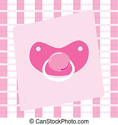 Pink Pacifier - Cute pink baby girl pacifier