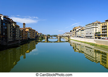 Arno river in Florence - Arno river in Florence Firenze,...
