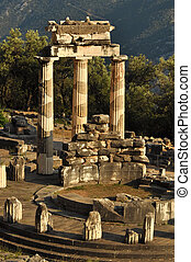 The Tholos at the sanctuary of Athena Pronaia, in Greece
