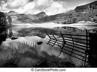 Blea in Black and White - Blea Tarn in Black and White