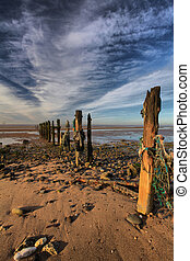 Spurn Groynes - Amazing clouds over the Groynes at Spurn...