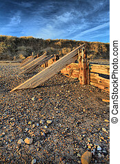 Groynes at Spurn Point - Groynes on the beach at Spurn Point...