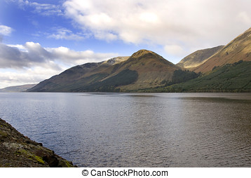 Loch Lochy, Scotland, autumn view