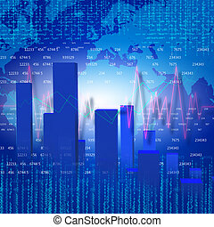 business chart and graphs - financial and business chart and...
