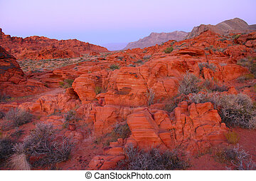 Valley of Fire State Park - Nevada - Blazing red rock...