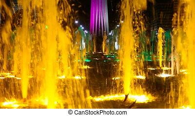 Light colour fountain - Light fountain in the Astana,...
