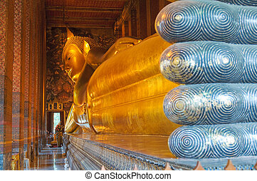 Bangkok, descanso,  Buddha, Tailandia,  wat,  Pho