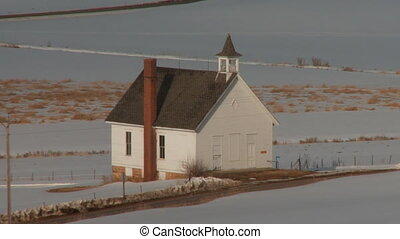 Abandoned Old Winter Rural Church - Abandoned Old Rural...