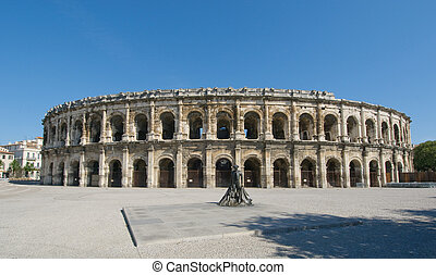Arenas of Nimes,  Roman amphitheater in Nimes, France
