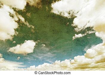 retro image of cloudy sky
