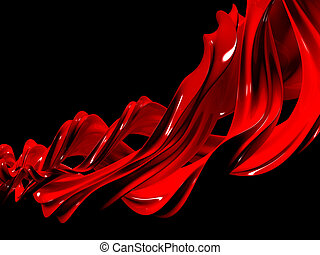 Abstract liquid red paint background isolated 3d...
