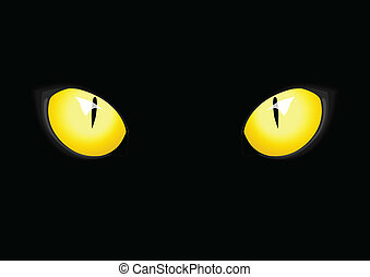 Cat Eyes - Stock vector of cat eyes